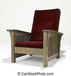 arts, chêne, chaise, métiers