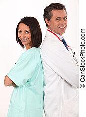 arts en verpleegster