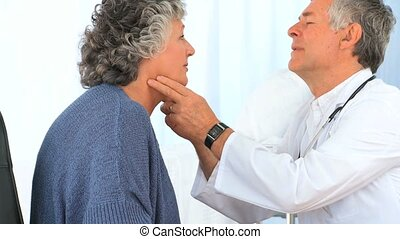 arts, examinating, zijn, patiënt