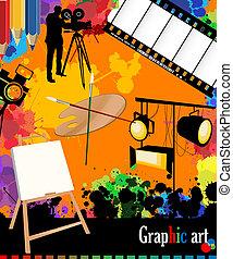 arts, graphique, disposition