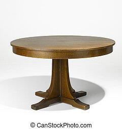 arts métiers, chêne, table haute