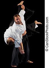 arts martiaux, combattants, isolé