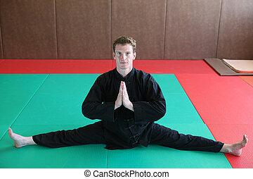 arts martiaux, pratiquer, homme