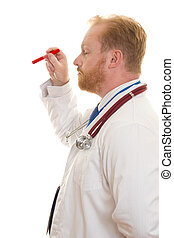 arts, met, examen, licht