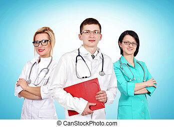 arts, met, zijn, collega's