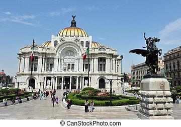 arts, palais, amende, mexique
