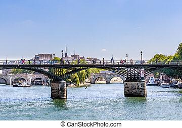 arts, sena., paris, pont neuf, paris, france, ponts, rivière, sur