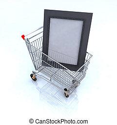 arts shopping online concept 3d illustration