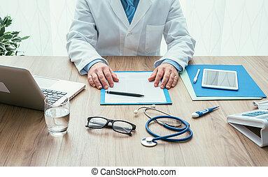 arts, werken aan, kantoorbureau