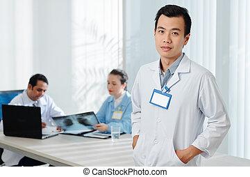 arts, zeker, jonge, vietnamees