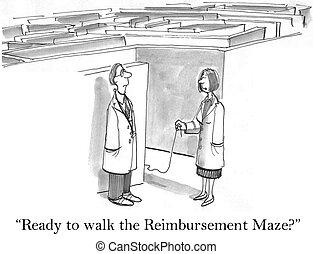artsen, zijn, gereed, om te lopen, de, terugbetaling,...