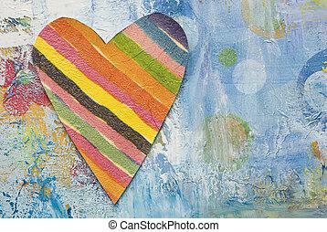 artwork, com, coração