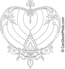 coloring page for adult. Heart