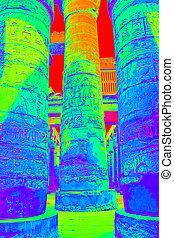 Columns with hieroglyphs