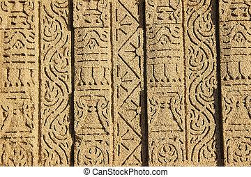 Artwork on Stone Wall