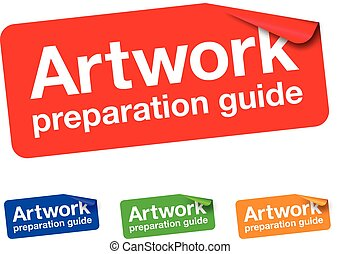 artwork preparation guide sticker