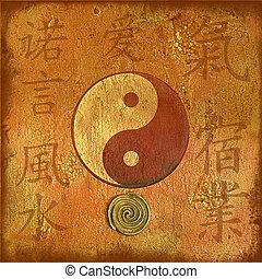 artwork yin and yang - artwork with yin and yang symbol for...