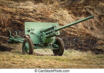 artyleria, stary, armata