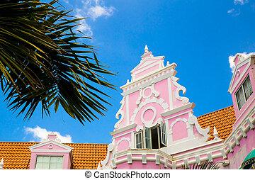 Aruba Dutch Architecture - Example of vibrant and colorful ...