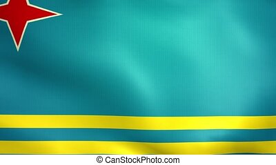 Aruba Flag. Background Seamless Looping Animation.