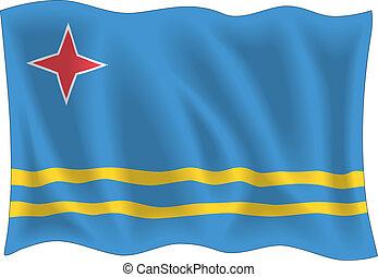 Aruba flag isolated on white background
