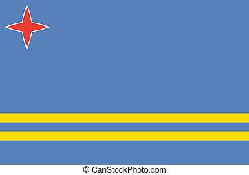 Aruba flag (nederlands island region)