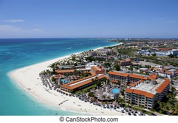Aruba from above - Taken during a helicopter flight over ...