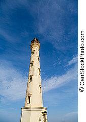 Aruba Lighthouse with Peeling Paint
