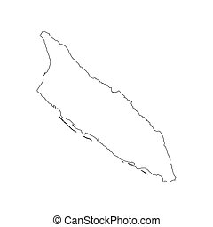 Map Outline Vector Clipart Royalty Free Map Outline Clip - Aruba map vector