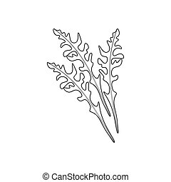 Arugula coloring pages