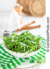 Arugula leaves, rucola