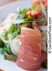 arugula, und, fenchel, salat
