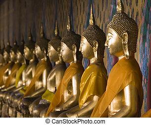 arun, wat, buddhas