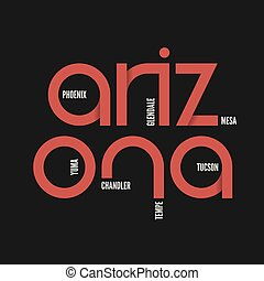 Arzona state. T-shirt and apparel vector design, print,...