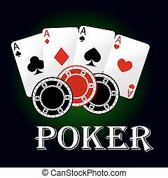 as, jeux & paris, puces poker, symbole