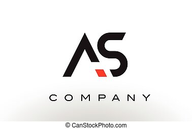 AS Logo.  Letter Design Vector.