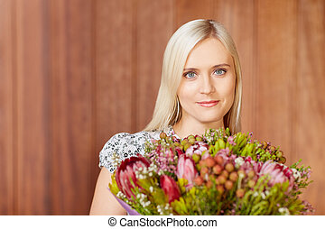 As pretty as a flower - Portrait of a beautiful young woman...