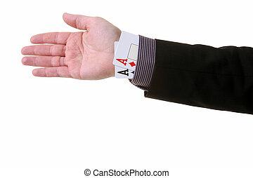 as, rękaw, oszustwo, i, szachrajski