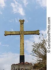 As religious symbol cristian cross icon