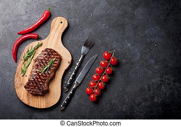 asado parrilla, filete de la carne de vaca