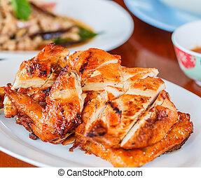 asado parrilla, tailandia, pollo
