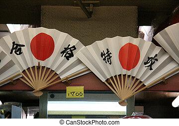 asakusa, cidade, tóquio, -, ventilador, japão