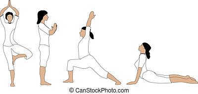 Asana Collection. - A collection of yoga asana being...