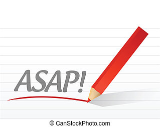asap written on a white paper illustration