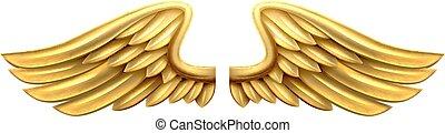 asas metal, ouro