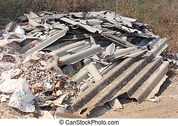 asbesto, desperdicio