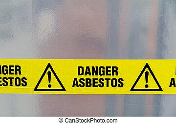 asbesto, señal de peligro