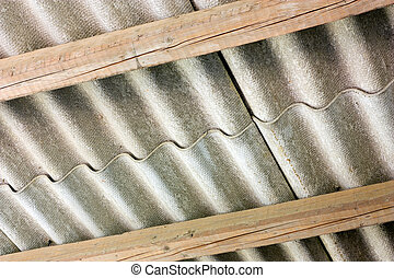 asbestos cover - asbestos cement panels - wavy roof cover on...