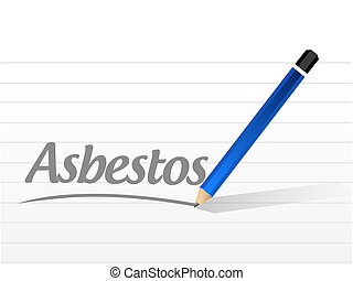 asbestos message sign illustration design