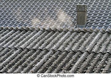 Asbestos roof eternit